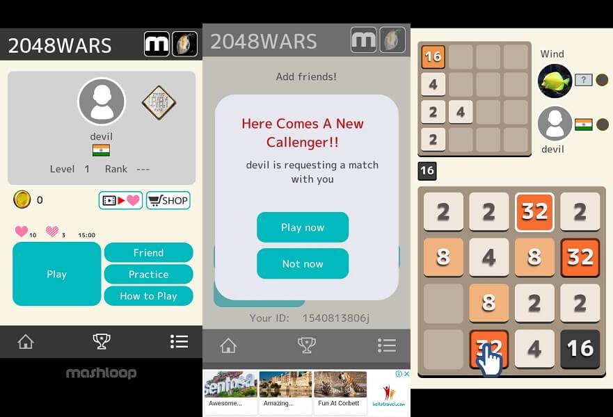 2048 WARS - 2048 online