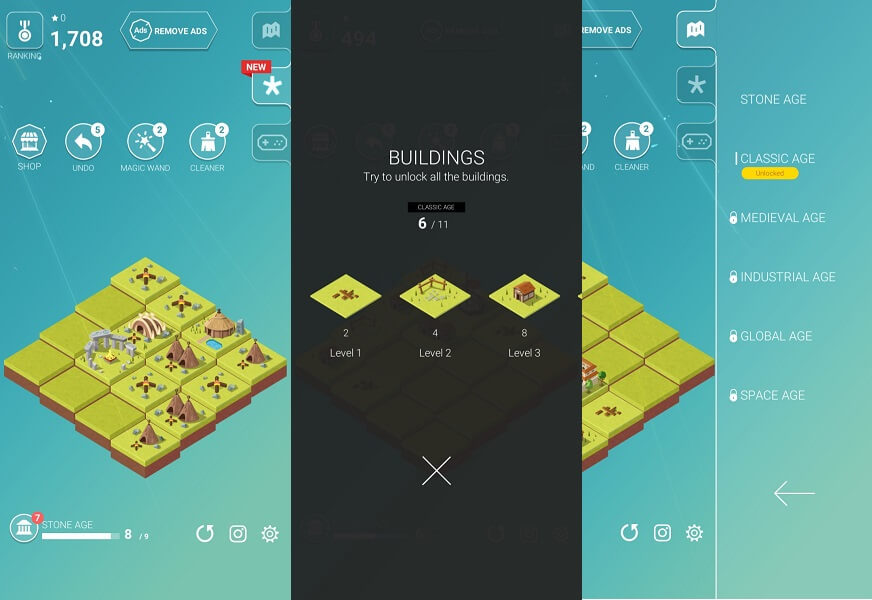 Games like 2048 but bigger - Age of 2048 - Civilization City Building Games