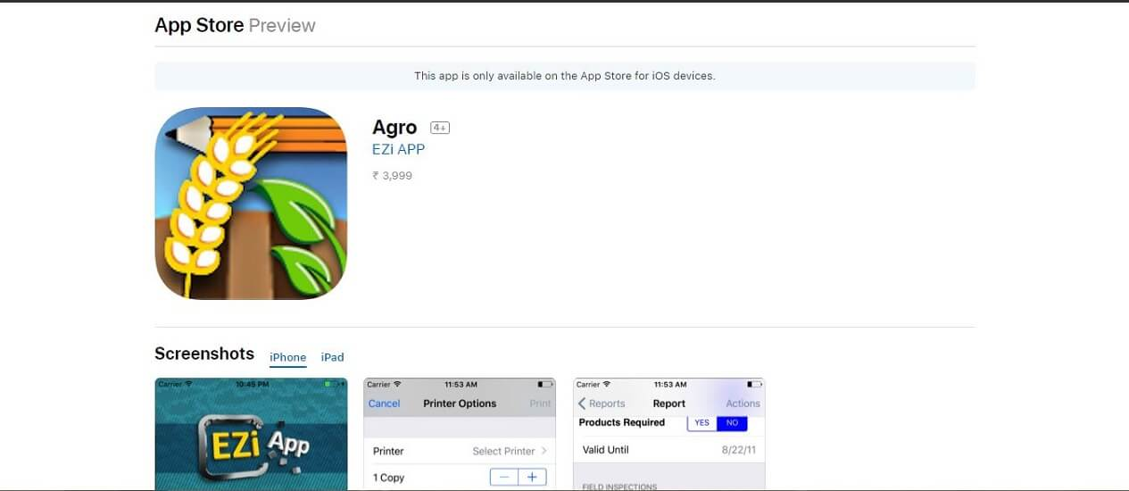 Agro -most expensive apps for iPhone