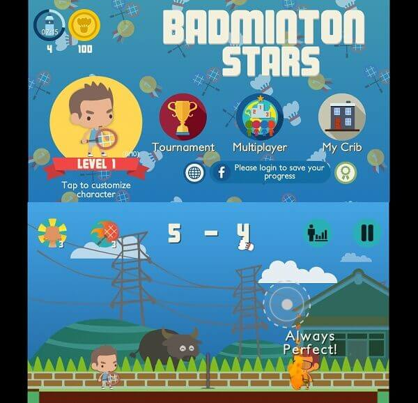 Badminton Stars game app