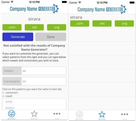 Company Name Generator for iOS
