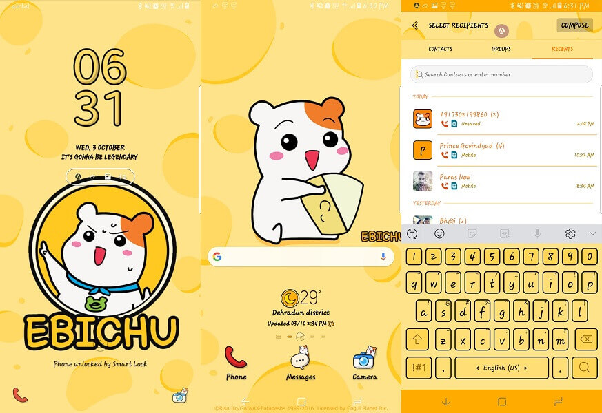 Ebichu - Best Samsung theme