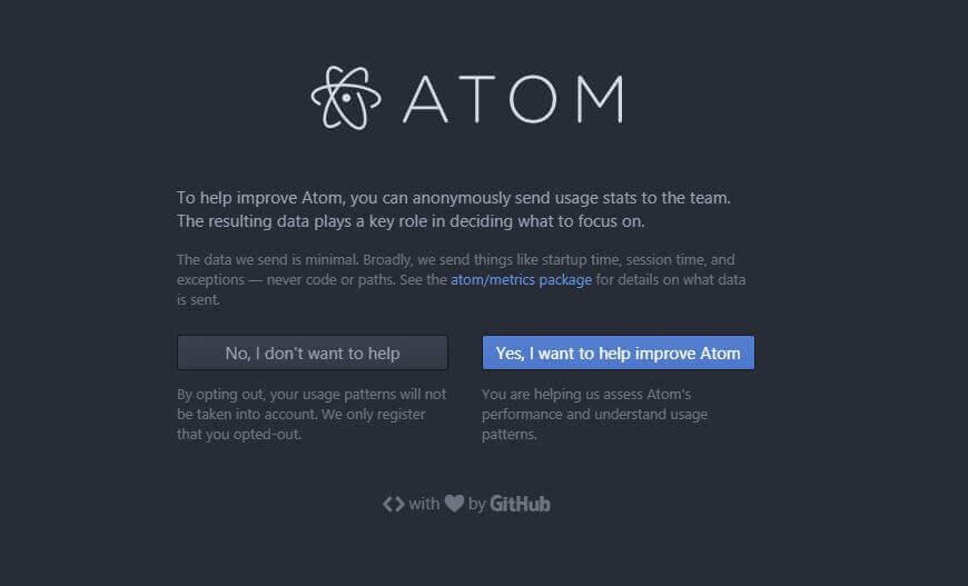 Github - Atom Text Editor