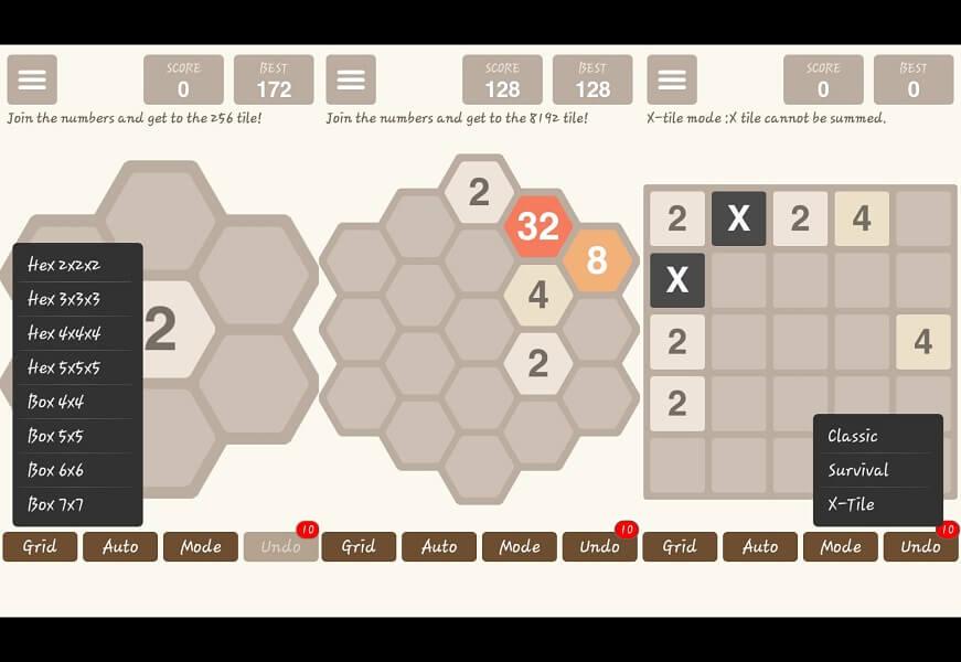 Hexic 2048 - Games like 2048
