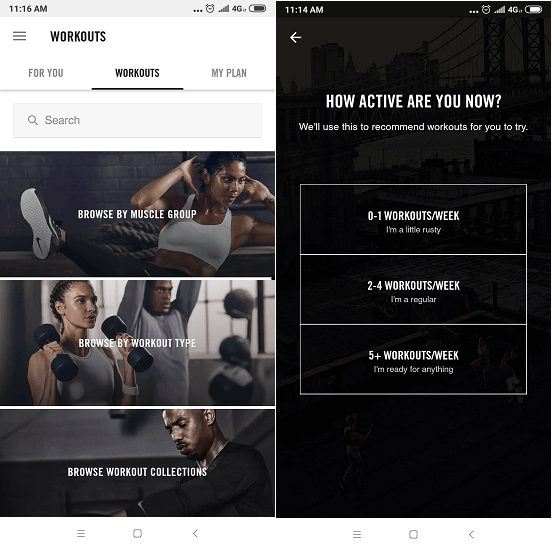 Nike Training club- essential apps for Android and iOS
