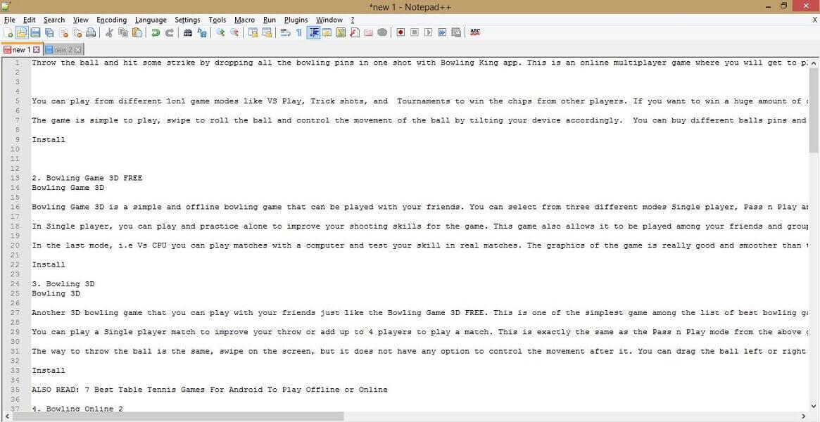 Notepad++ vs Atom vs Sublime - Interface