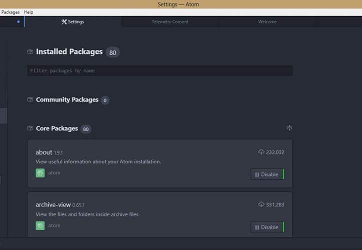 Atom Package