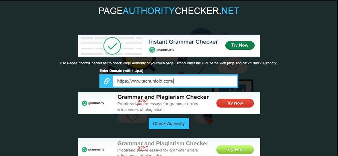 PageauthorityChecker
