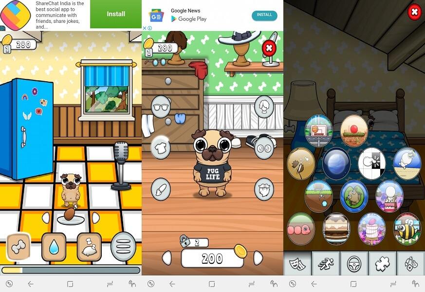 Pug - Virtual pet game