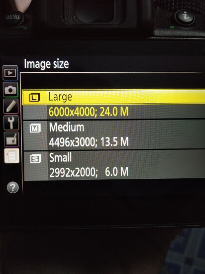 RAW Image Format File Size