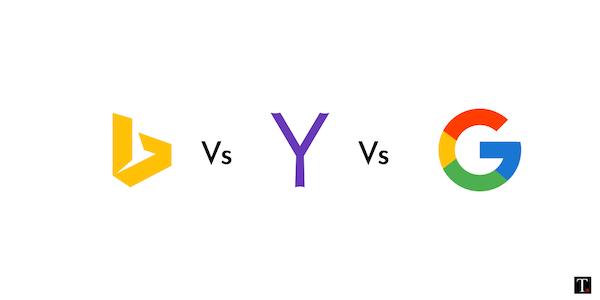 Bing vs Yahoo vs Google