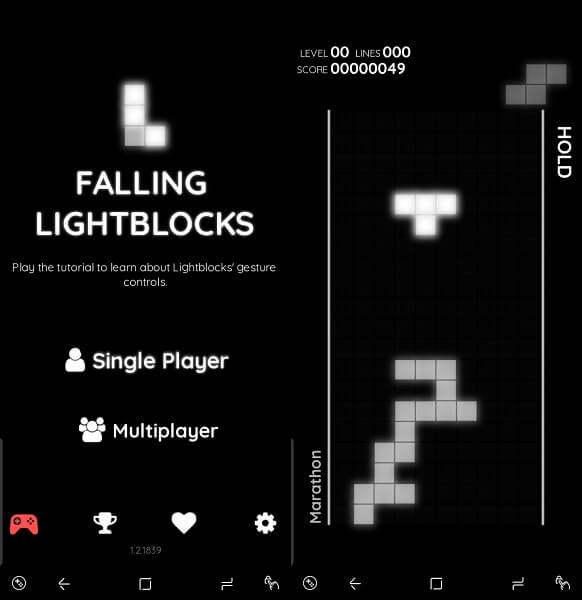 Falling Lightblocks - android multiplayer tetris games