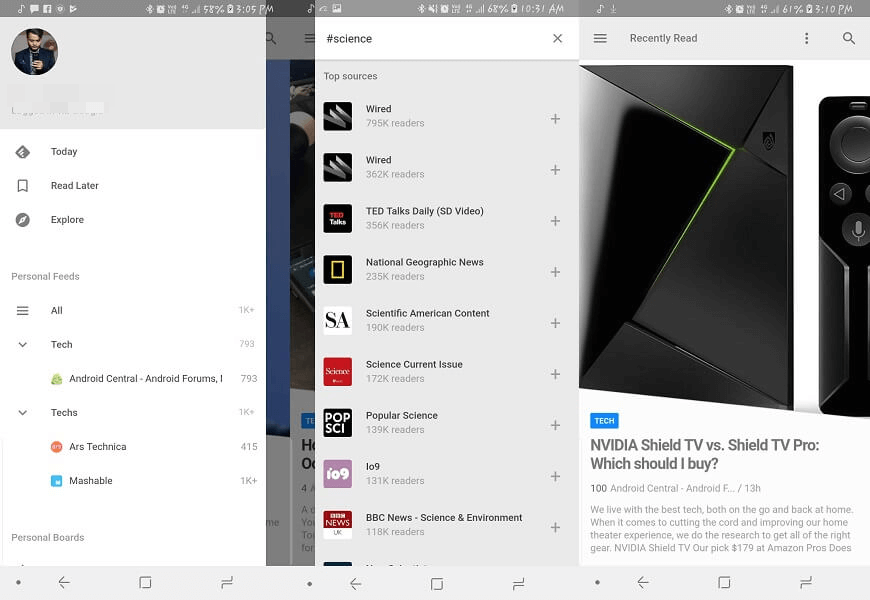 Feedly - Best RSS reader android