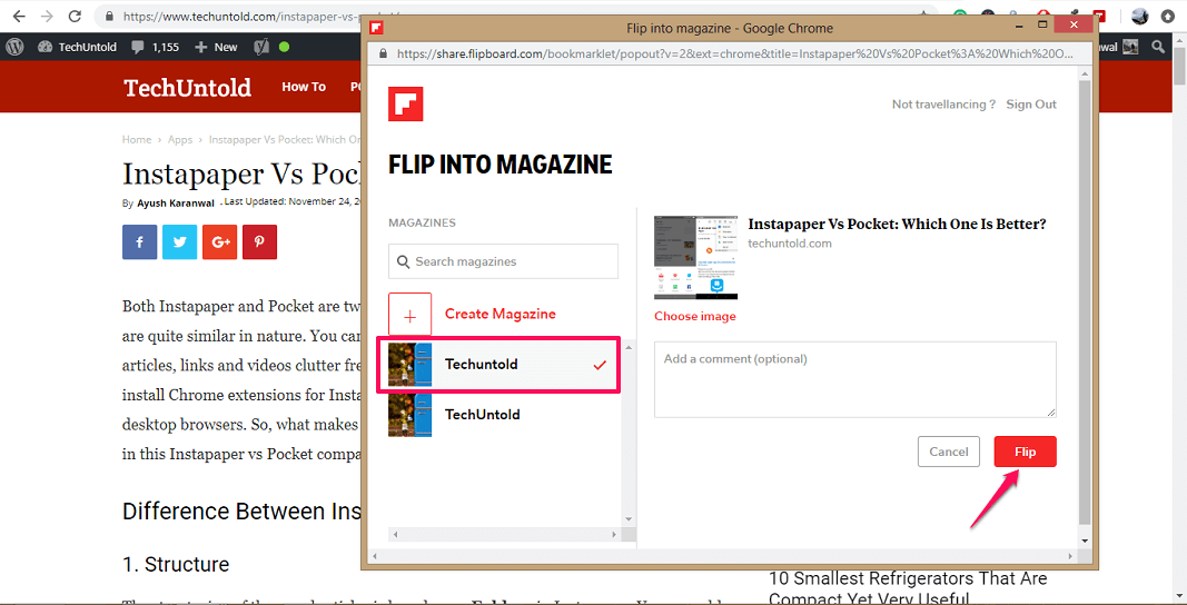 Publish Your website content on Flipboard