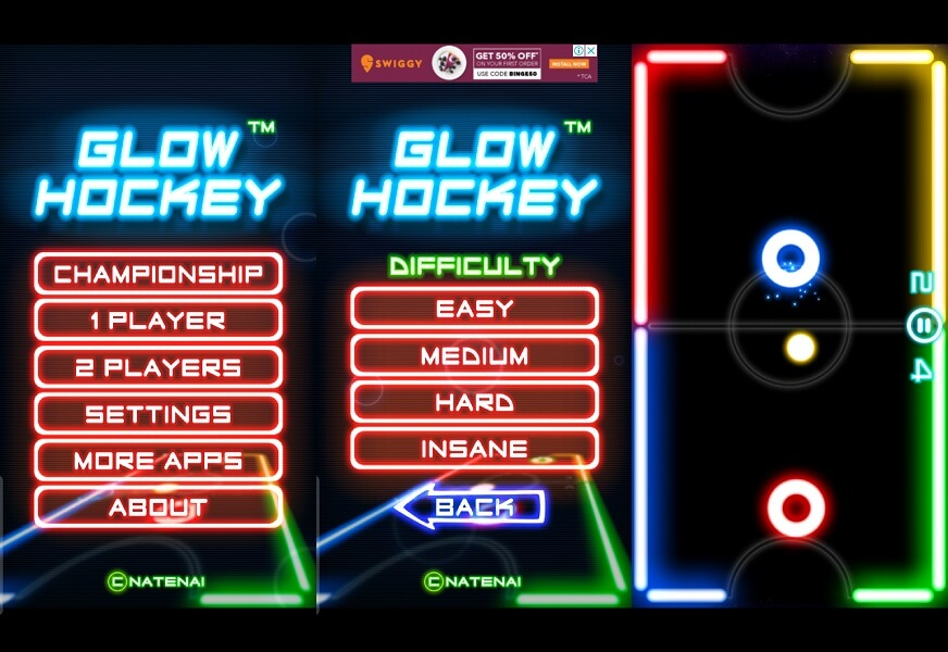 Glow Hockey - best air hockey games