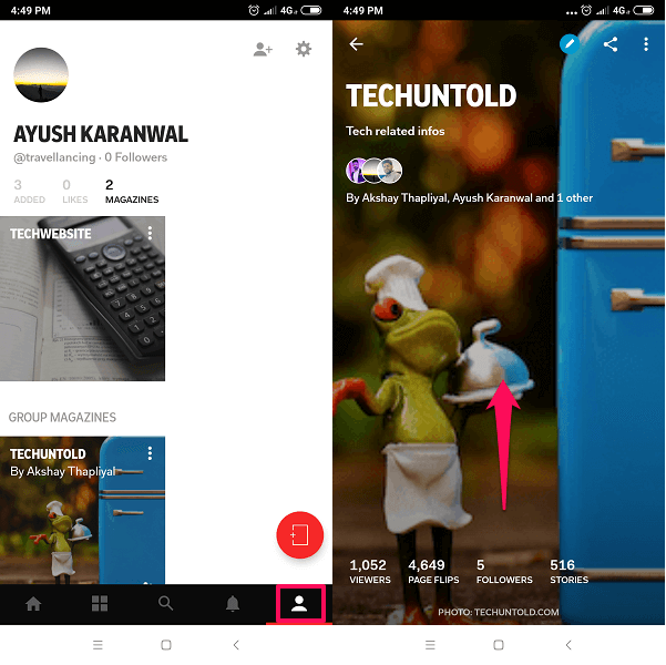 How to publish website content on flipboard