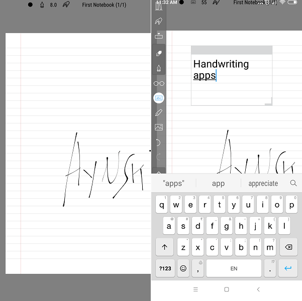 kindle fire chinese handwriting input