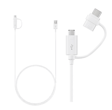 Micro USB and USB-C Combo Cable