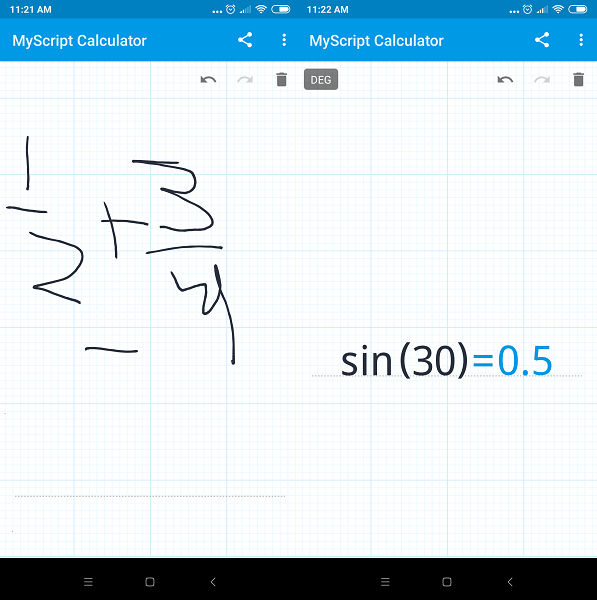 Best scientific calculator apps - MyScript Calculator