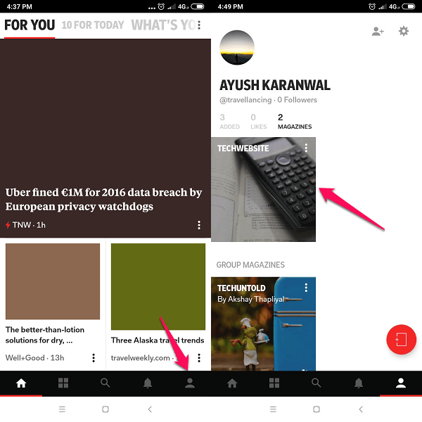 Publish content in Flipboard Magazine