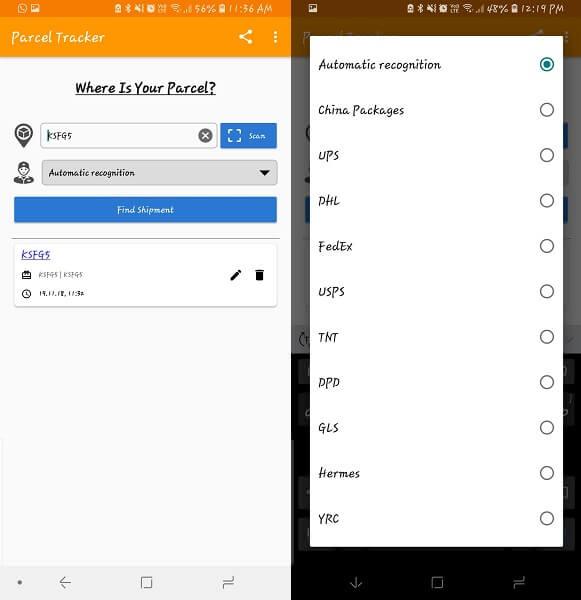 Best Shipment Tracking app - Parcel Tracker