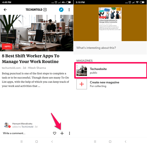 Add Published article to your Flipboard Magazine