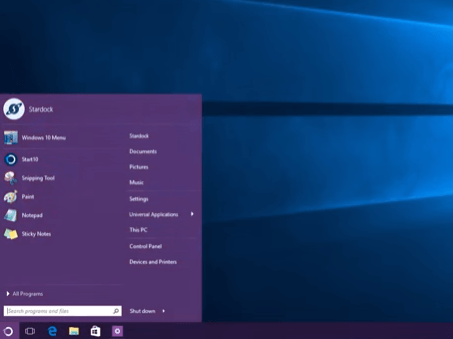 classic shell alternatives windows 10 - Start 10