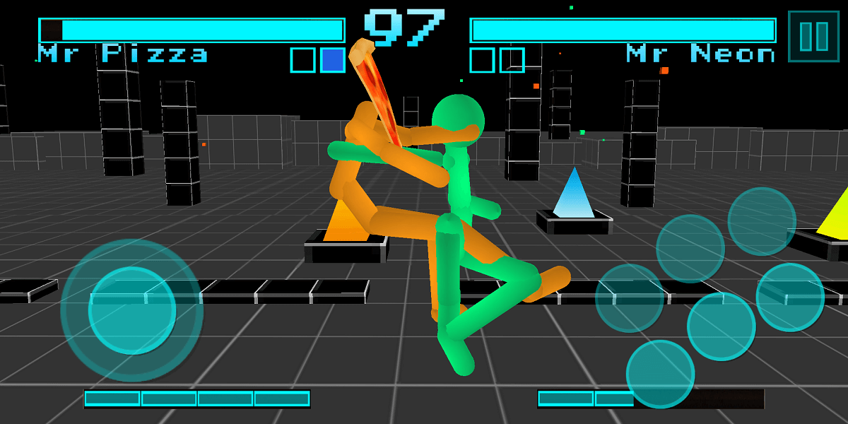 Stickman Fighting Neon Warriors