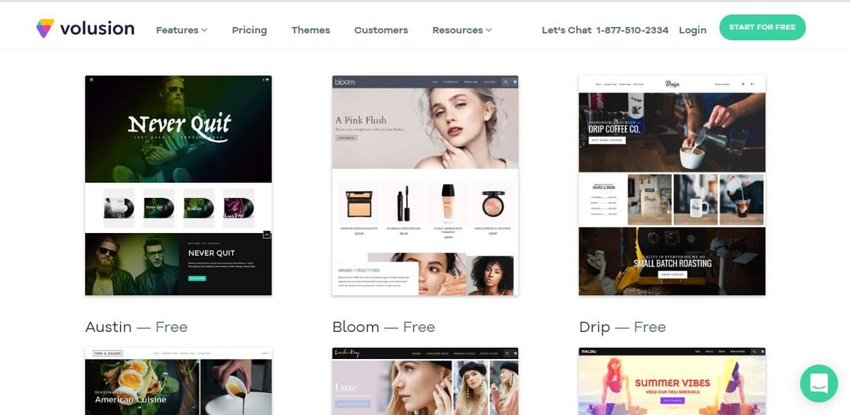 Volusion - Shopify alternatives for drop shipping