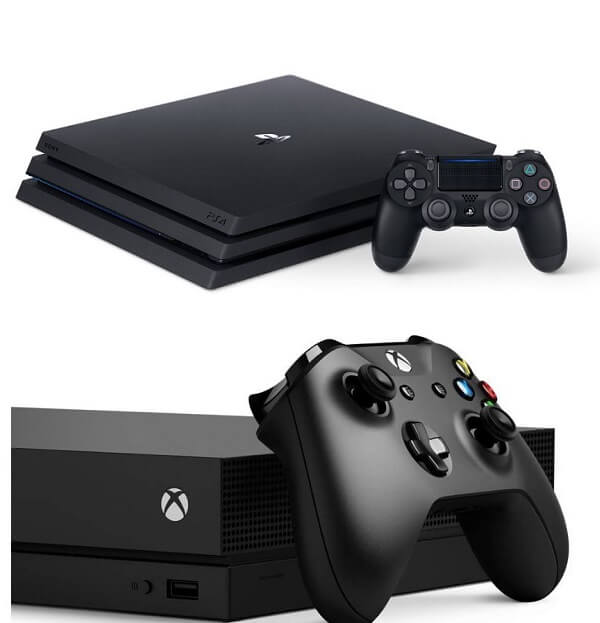 XBox One X vs PlayStation 4 pro - design
