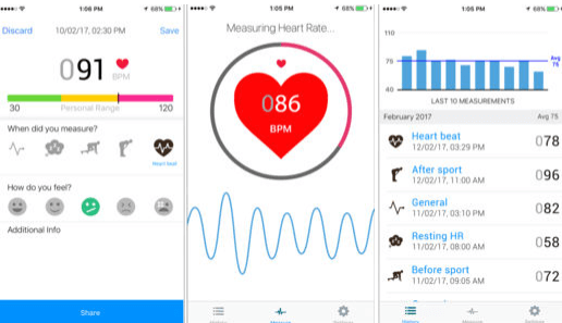 iHeart Rate Pulse Tracker - heart rate app accurate