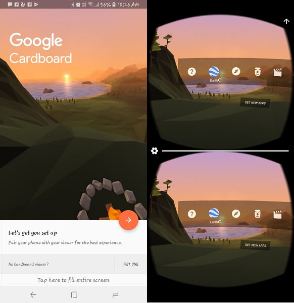 Cardboard - virtual reality apps