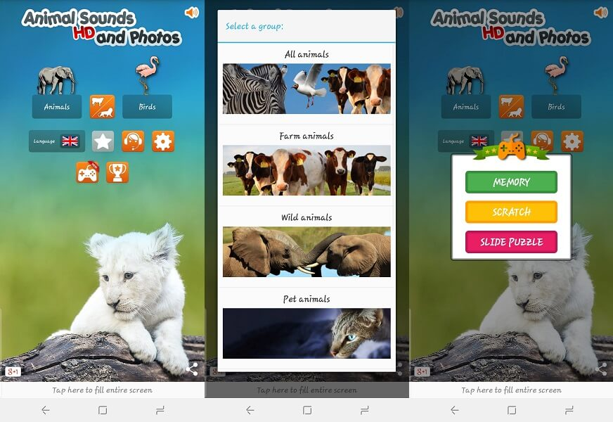 Identify Animal Sounds app