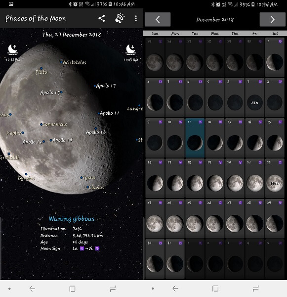 Phases of the Moon - moon phase apps