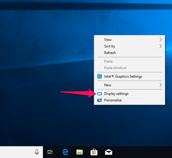 Set up dual monitors in windows 10