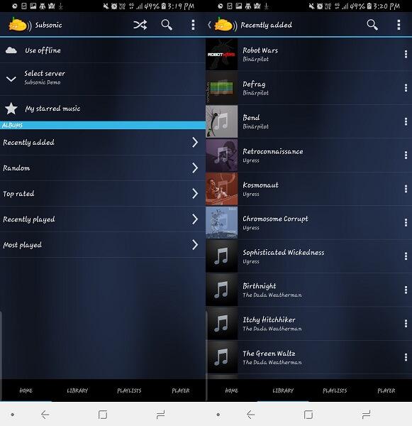 Subsonic Music Streamer