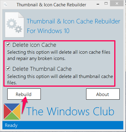 Tumbnail and icon cache rebuilder