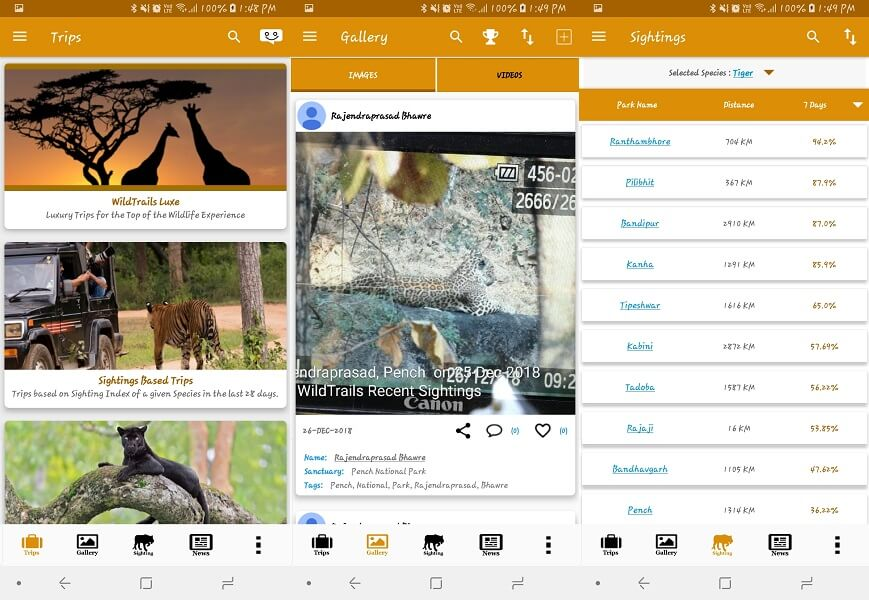 WildTrails - wildlife spotting apps