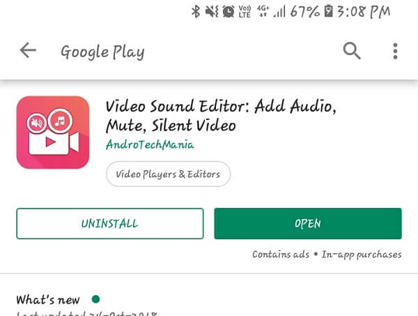 android app to remove audio from video