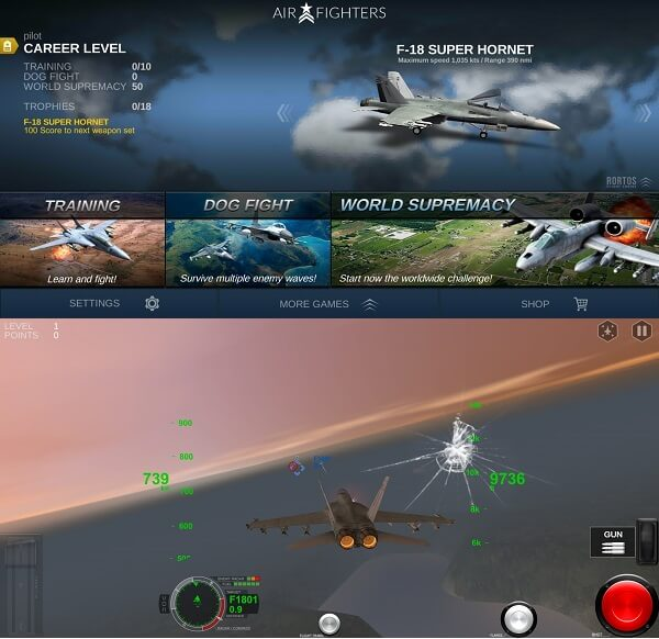 AirFighters - best fighter plane games for android