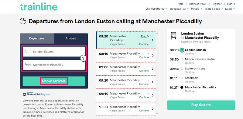 Check Live train running status for UK