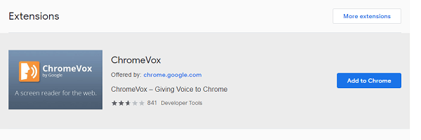 ChromeVox - screen reader chrome