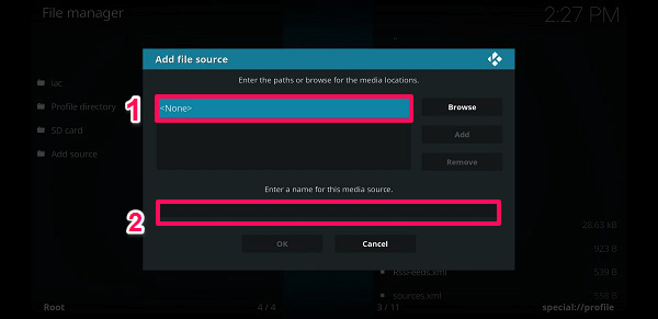 Add file source - add repo Kodi