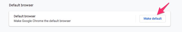 Make Chrome Default using Chrome Settings