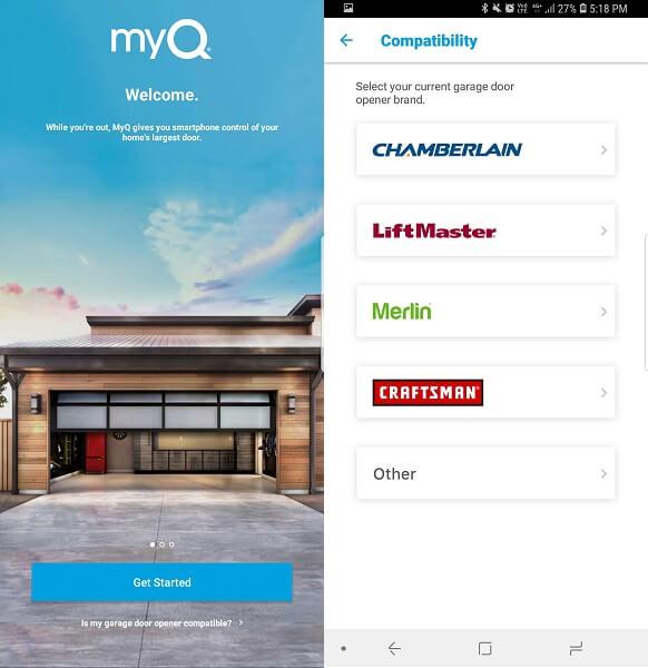 MyQ Smart Garage Control - best smart garage door openers iphone and android
