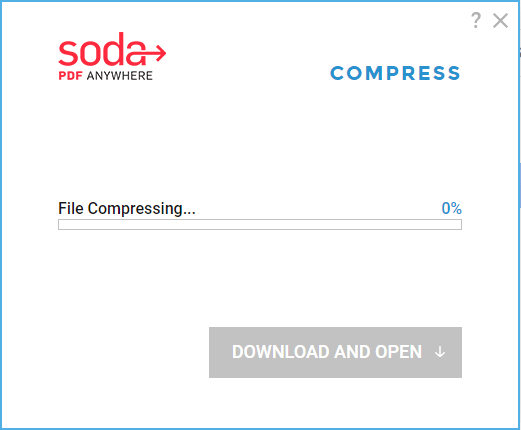 how to reduce PDF file size without losing quality- soda pdf