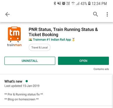 Train live running Status - Trainman App