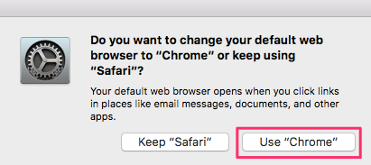 Use Chrome as default browser macOS