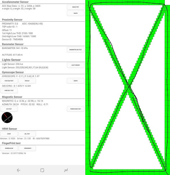 check sensor and hardware - Using AndroidHardware Test Code