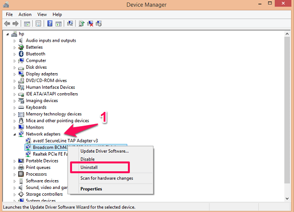 device manager options
